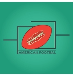 American football logo and emblem vector