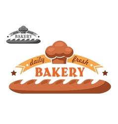 Bakery shop emblem or logo in two color variants vector
