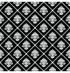 black diagonal floral pattern vector image