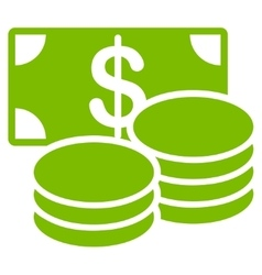 Cash icon from Business Bicolor Set vector image