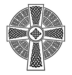 celtic style cross with eternity knots vector image