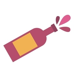 Champagne bottle flat icon vector