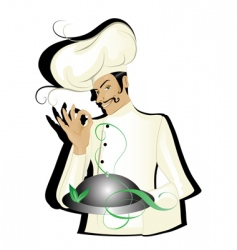 chef isolated vector image vector image