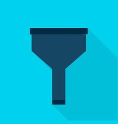 Data filter flat icon vector