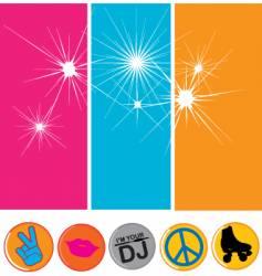 disco flavor vector image vector image
