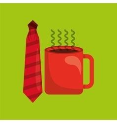 Fathers day hat and coffee icon design vector