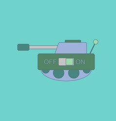 flat icon on background kids toy tank vector image vector image