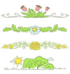 Floral spring vector
