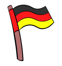 Germany flag icon cartoon vector