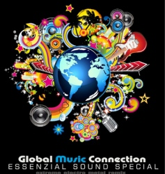 global music vector image