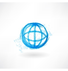 Globe grunge icon vector image vector image
