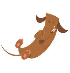Happy dog animal character vector