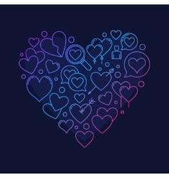 Heart shape symbol vector image