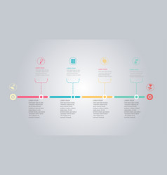 Horizontal timeline infographic element background vector