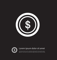 isolated chip icon dollar element can be vector image