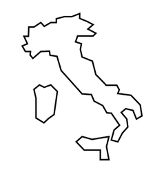 Map of Italy icon outline style vector image