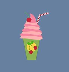 Milkshake drink cocktail icon vector image