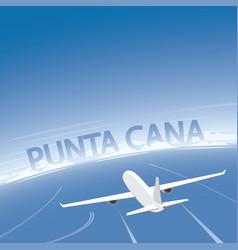 Punta cana flight destination vector