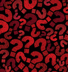 Question marks seamless pattern hand drawn lines vector image