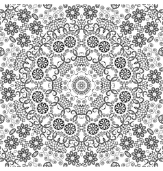 Seamless outline floral pattern vector image vector image