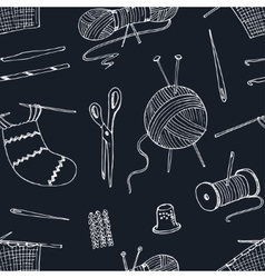 seamless pattern for sewing knitting crafts vector image