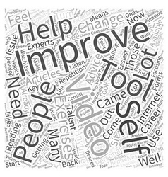 Self improvement video word cloud concept vector