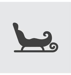 Sleigh icon vector image vector image