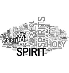 Spirits word cloud concept vector