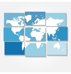 tiled world map background vector image vector image