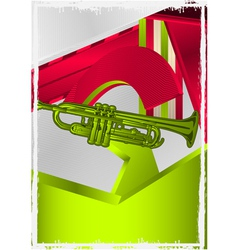 trumpet poster vector image vector image