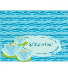 Water lily background vector