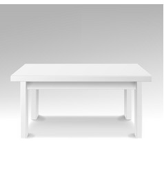 White empty square table isolated furniture vector
