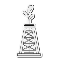 Oil tower icon vector image