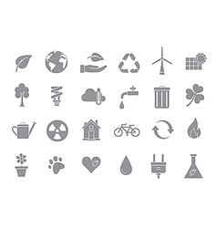 Eco gray icons set vector image