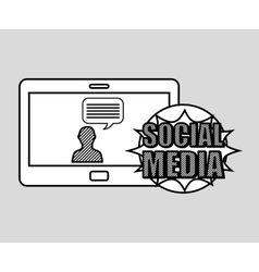 Hand drawing character chat social media mobile vector