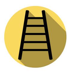 Ladder sign   flat black icon vector