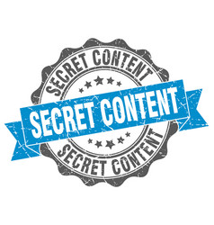 Secret content stamp sign seal vector