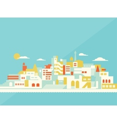 House set asian city vector