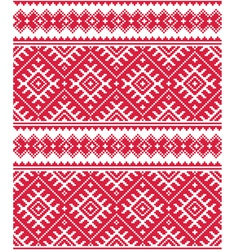 Ukrainian red seamless folk emboidery pattern or p vector image