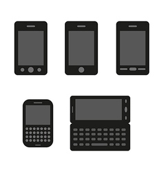 Smart phones silhouette vector