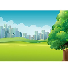 A green landscape vector