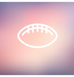 Football ball thin line icon vector image