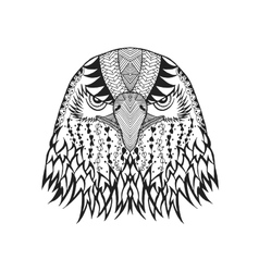 Zentangle stylized eagle head sketch for tattoo vector