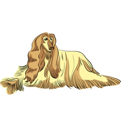 Dog sketch vector