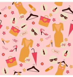 Shopping spring sale seamless pattern vector