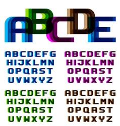 Eps10 distortion blur font alphabet letters vector