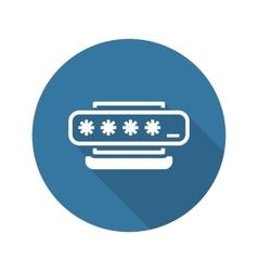 Access password icon flat design vector