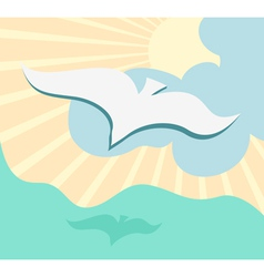 Seagull background vector