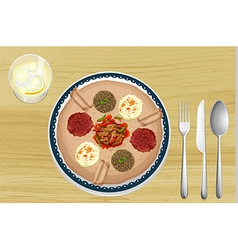 A food in a dish vector image vector image