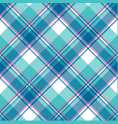 Baby boy blue pastel color plaid seamless pattern vector